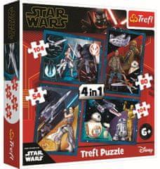 Trefl Puzzle Star Wars: Pociť sílu 4v1 (54,80,104,104 dílků)