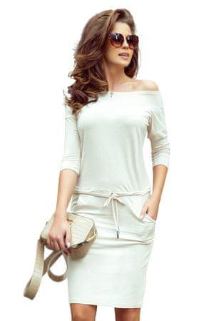 Numoco Sukienka damska 13-109, beżowy, XL