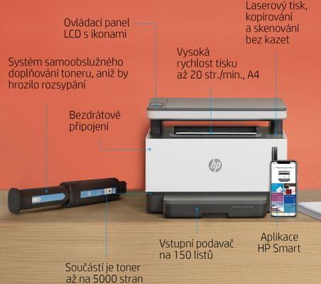 Tiskárna HP, černobílá, laserová, vhodná do kanceláří