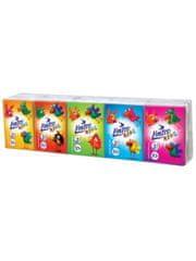 LINTEO Papírové kapesníky Linteo Kids mini 10x10ks bílé 3-vrstvé