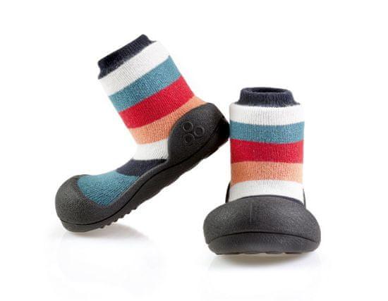 Attipas dětské botičky Rainbow Black 19 vícebarevná