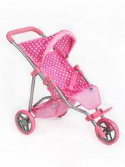 PLAYTO Sportovní kočárek pro panenky PlayTo Olivie světle růžový