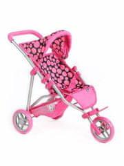 PLAYTO Sportovní kočárek pro panenky PlayTo Olivie růžový