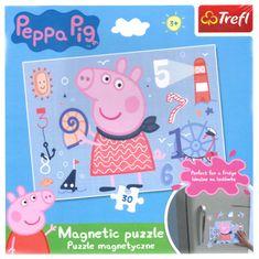 Trefl Magnetické puzzle Prasátko Peppa 30 dílků