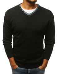 BUĎCHLAP Fantastický čierny sveter v zaujímavom prevedení