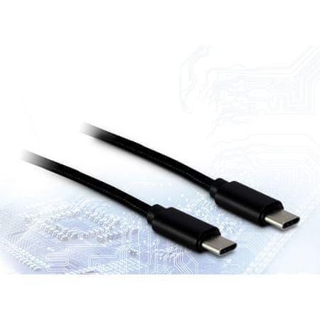 Inter-tech USB-C na USB-C kabel, 1m, črn
