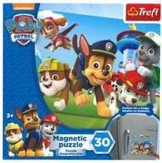 Trefl Magnetické puzzle Tlapková patrola 30 dílků