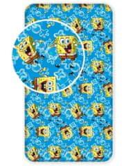 Jerry Fabrics Prostěrado Sponge Bob modrá