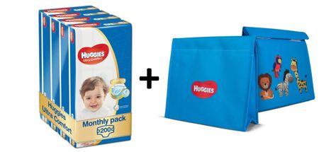 Huggies Ultra Comfort Jumbo 4 (7-18 kg) 200 ks (4x50 ks) - měsíční balení