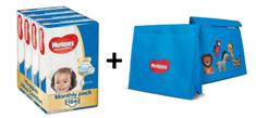 Huggies Ultra Comfort 4+ Jumbo (10-16 kg) měsíční balení - 184 ks (4x46 ks)