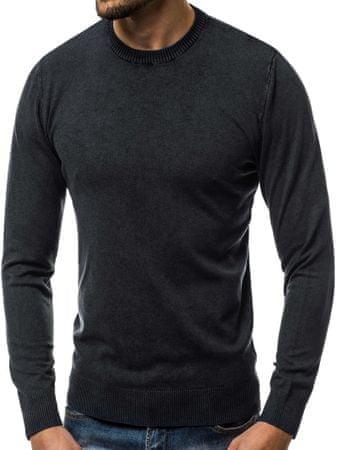 BUĎCHLAP Pohodlný čierny sveter BL/5611 XXL