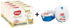 Huggies Elite Soft 1 Newborn (3-5 kg) 104 ks (4x26 ks) - Měsíční balení