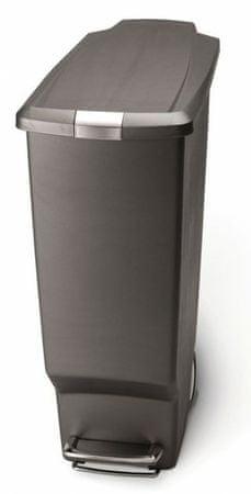 Simplehuman koš za odpadke, 40 l, siv