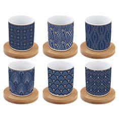 Easy Life porcelánové hrnky na espresso Art Deco, dárková sada 6 ks