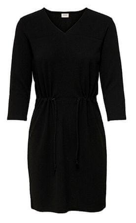 Női ruha JDYDAKOTA 3/4 DRESS JRS Black (méret XS)