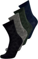 ONLY&SONS Pánske ponožky ONSLEVIN CHECK SOCK 4-PACK