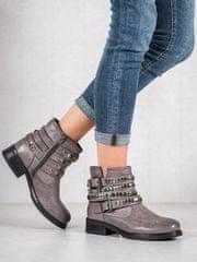 Stylomat Dámské kotníkové boty odstín šedé