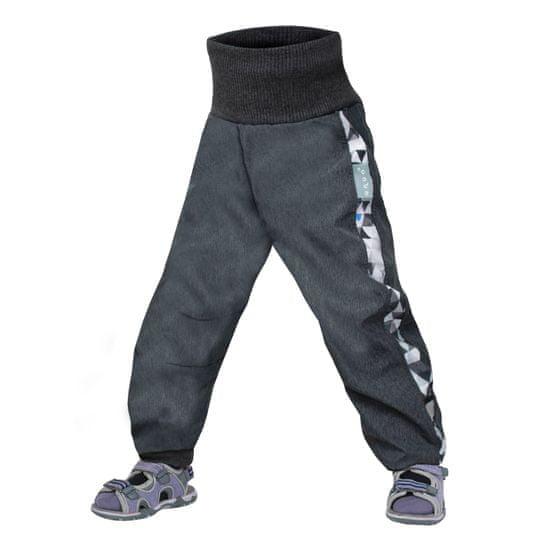 Unuo chlapecké softshellové kalhoty batolecí s fleecem Street 74 - 80 antracitová