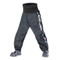 Unuo dívčí softshellové kalhoty batolecí s fleecem Street