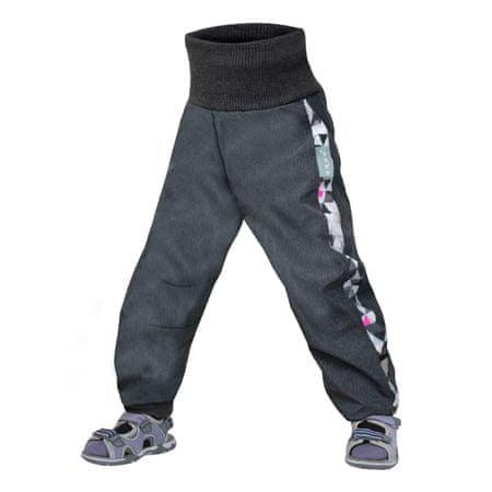 Unuo dekliške softshell hlače s flisom, 74 - 80, antracitne