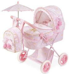 DeCuevas Skládací kočárek pro panenky s deštníkem 3 v 1 Maria 2019-M