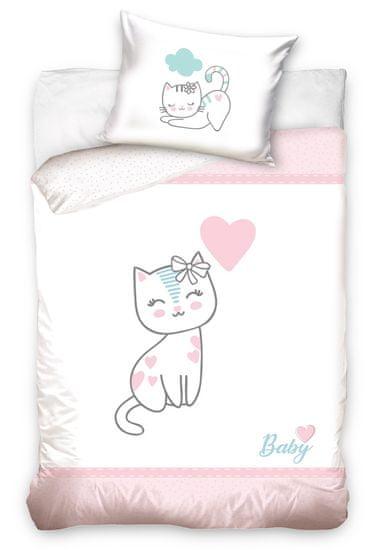 TipTrade Obliečky do postieľky Mačiatko Ružové