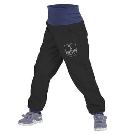 Unuo dětské softshellové kalhoty batolecí s fleecem SLIM 86 - 92 černá