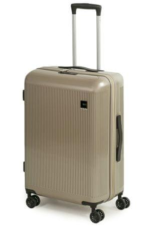 Rock Skořepinový cestovní kufr Windsor M 63 l béžová