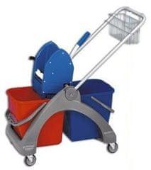 EASTMOP Úklidový vozík plastový 2 x 25 l