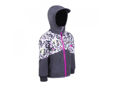 Unuo dívčí softshellová bunda s fleecem Street 128 - 134 antracitová