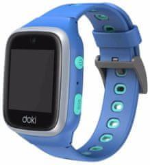 doki dokiwatch dokiPal detské inteligentné hodinky 4G LTE s videotelefónom, modré