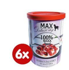 FALCO MAX deluxe csirke zúzák - hús 6x400g