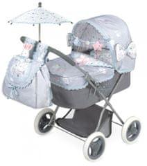 DeCuevas Martin 2019-M zložljiv voziček za lutke z dežnikom