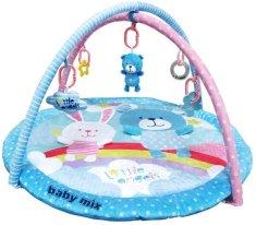 Baby Mix mata ze stojakiem - Niedźwiedź i Królik