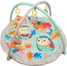Baby Mix hracia deka s hrazdou - Sovičky