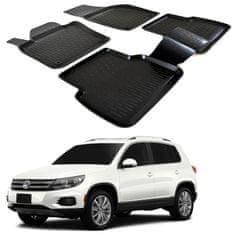 SCOUTT Gumové koberce 3DS SCOUTT Volkswagen Tiguan 2008 - 2016