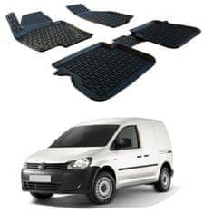 SCOUTT Gumové koberce 3DS SCOUTT Volkswagen Caddy 2003 - 2015