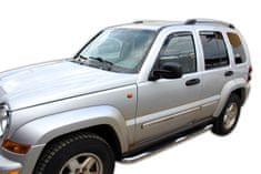 Team Heko Okenné deflektory Jeep Cherokee KJ 5D 2001-2007 4 ks predne+zadne