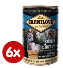 Carnilove mokra karma dla psa Wild Meat Salmon & Turkey 6x 400 g