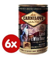 Carnilove Wild Meat Bárány és Vaddisznó 6x 400 g