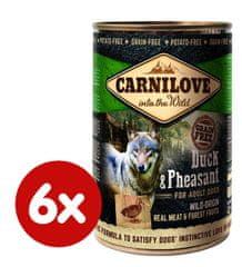Carnilove mokra karma dla psa Wild Meat Duck & Pheasant 6x 400 g