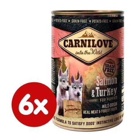 Carnilove Wild Meat Lazac és Pulyka kiskutyáknak 6x 400 g