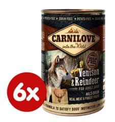 Carnilove Wild Meat Szarvashús és Rénszarvas 6x 400 g
