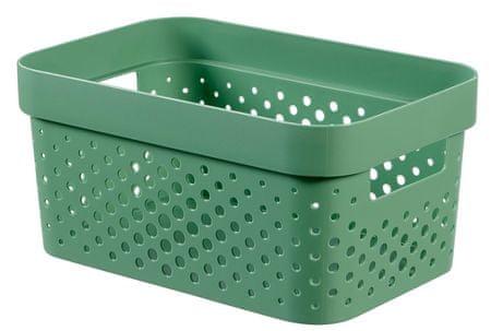 Curver Infinity škatla za shranjevanje, reciklirana plastika, 4.5 l, zelena