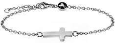 Emily Westwood Elegantný oceľový náramok s krížikom WB1008S