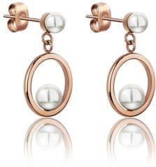 Emily Westwood Acél fülbevalók gyöngyökkel WE1025R