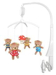 Baby Mix plyšový kolotoč nad postieľku - Medvedíci s muchotrávkou