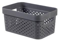 CURVER Úložný box INFINITY 4,5 l recyklovaný plast tmavosivý