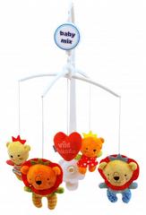 Baby Mix Pluszowa karuzela nad łóżeczko - Królowie zoo