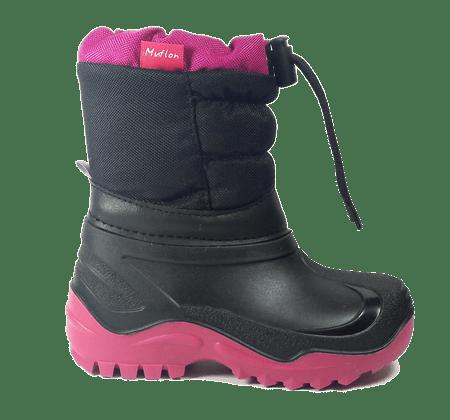 Ren But zimske čizme za djevojke, crno-roze, 23